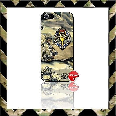 ★ THE WELSH GUARDS ★ SHELL/CASE/COVER FOR IPHONE 5/5S AFGHANISTAN - Black Halo Design