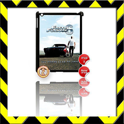 ★ FAST & FURIOUS 6 ★ SHELL/COVER FOR IPAD 2/3/4(3RD/4TH GENERATION) VIN DIESEL#2 - Black Halo Design