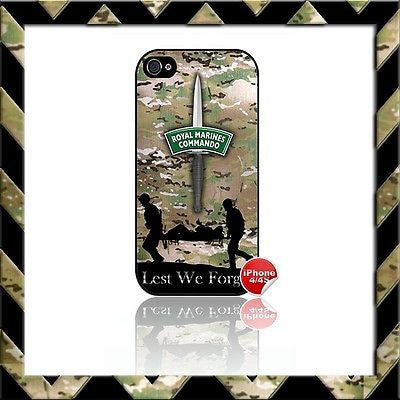 ★ ROYAL MARINES COMMANDO CDO ★ SHELL/CASE/COVER FOR APPLE IPHONE 4/4S MARINE#1 - Black Halo Design