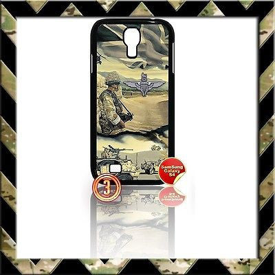 ★ THE PARACHUTE REGIMENT COVER FOR SAMSUNG GALAXY S4 S IV/I9500 CASE ARMY(PARA) - Black Halo Design