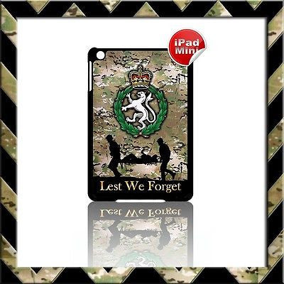 ★ WOMENS ROYAL ARMY CORPS (WRAC) ★ HARD SHELL/CASE FOR APPLE IPAD MINI CAMO #21 - Black Halo Design