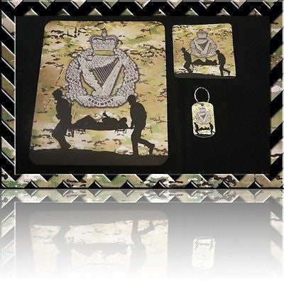 THE ROYAL IRISH REGIMENT(RIR) MOUSE MAT/COASTER/DOGTAG KEYRING SET (Mousemat)H4H - Black Halo Design