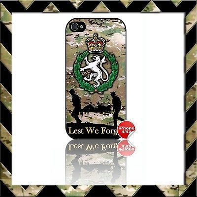 THE WOMENS ROYAL ARMY CORPS (WRAC) SHELL/CASE/COVER FOR APPLE IPHONE 4/4S #22 - Black Halo Design