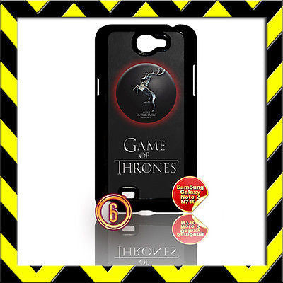 ★ GAME OF THRONES ★ FOR SAMSUNG GALAXY NOTE II/2/N7100 CASE BARATHEON#6 - Black Halo Design