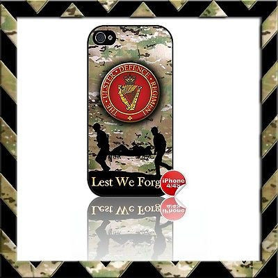 THE ULSTER DEFENCE REGIMENT (UDR) SHELL/CASE/COVER FOR APPLE IPHONE 4/4S #21 - Black Halo Design