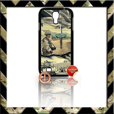 ★ ROYAL MARINES COMMANDO COVER FOR SAMSUNG GALAXY S4 S IV/I9500 SHELL/CASE ARMY - Black Halo Design