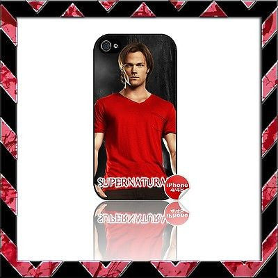 ★ SUPERNATURAL ★ COVER FOR IPHONE 4/4S SHELL CASE  JENSEN ACKLES#9 - Black Halo Design