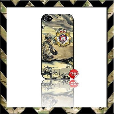 ★ THE ROYAL LOGISTIC CORPS (RLC) ★ COVER FOR APPLE IPHONE 4/4S (LOGISTICS/ARMY) - Black Halo Design