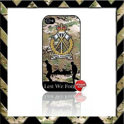 ★ THE ROYAL PIONEER CORPS RPC SHELL/CASE/COVER FOR APPLE IPHONE 4/4S CAMO#6 - Black Halo Design