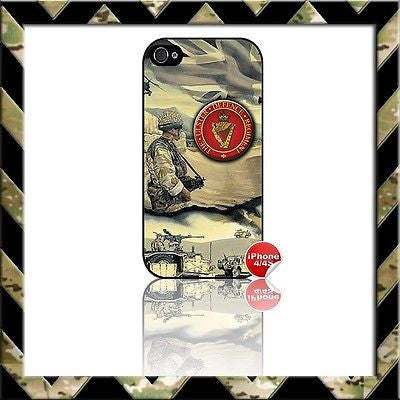 ★ THE ULSTER DEFENCE REGIMENT (UDR/RIR) ★ COVER FOR APPLE IPHONE 4/4S CASE ARMY - Black Halo Design