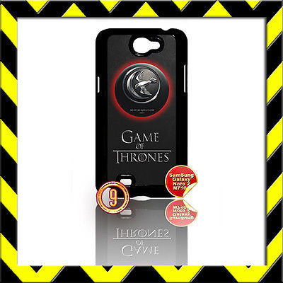 ★ GAME OF THRONES ★COVER FOR SAMSUNG GALAXY NOTE II/2/N7100 CASE ARRYN EAGLE#9 - Black Halo Design