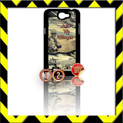 ★ ARMY LEST WE FORGET ★ COVER FOR SAMSUNG GALAXY NOTE II/2/N7100 AFGHANISTAN#12 - Black Halo Design