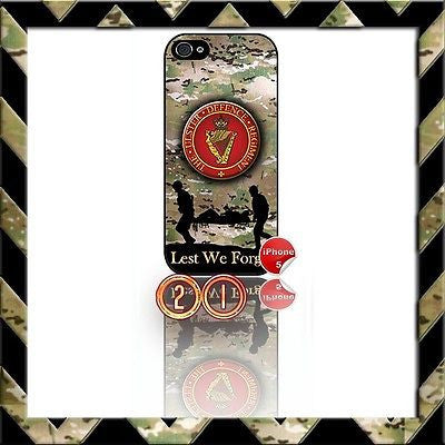 ★ THE ULSTER DEFENCE REGIMENT (UDR)★ SHELL/CASE/COVER FOR IPHONE 5 CAMO#21 - Black Halo Design