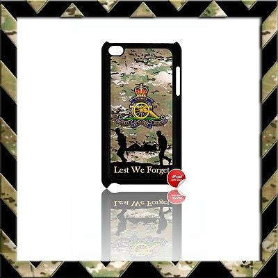 THE ROYAL ARTILLERY CASE/COVER FOR IPOD TOUCH 4/4TH GEN GENERATION 4G ARMY#19 - Black Halo Design