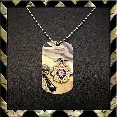 ★ THE ROYAL LOGISTIC CORPS (RLC)★ DOG TAG NECKLACE/KEYRING (ARMY/LOGISTICS/H4H) - Black Halo Design