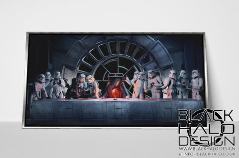 Star Wars: The Last Supper Timber Framed Canvas with Floating Shadow Frame
