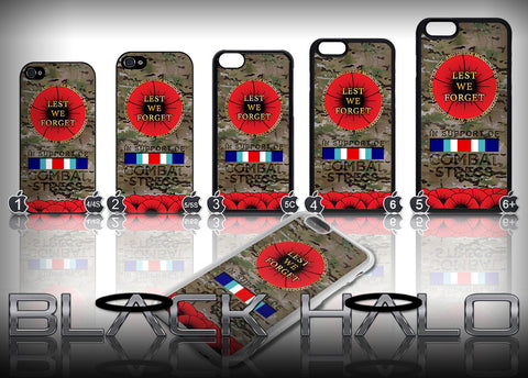 Lest We Forget Multi-Cam Case/Cover for Apple iPhone 4-6s Plus #In Support of Combat Stress