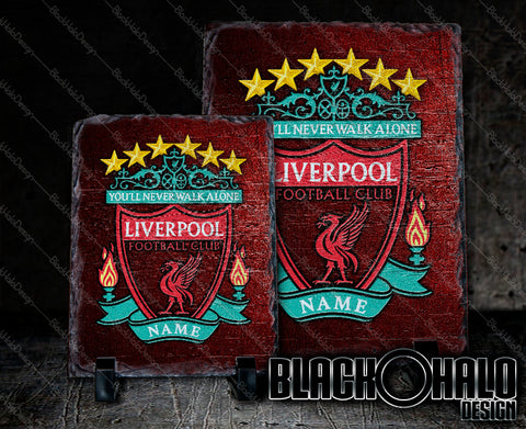 Liverpool FC Personalised Rectangular Natural Rock Slate