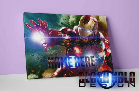 Personalised Iron Man Box Framed Canvas #IronMan #Avengers