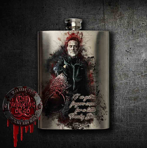 Negan: The Walking Dead Hip Flask Stainless Steel 8oz Hip Flask