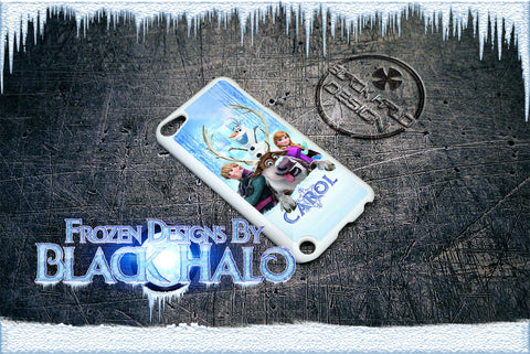 PERSONALISED: FROZEN CASE/COVER FOR APPLE IPOD TOUCH 5/5G/5TH GENERATION DESIGN#1 - Black Halo Design  - 1