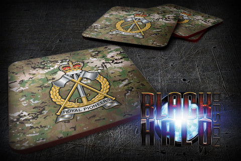 THE ROYAL PIONEER CORPS MULTI-CAM SUBLIMATION COASTERS - Black Halo Design