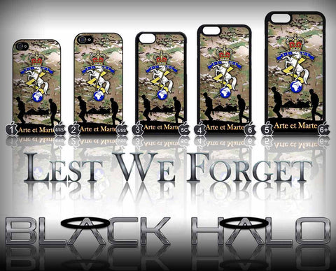 Royal Electrical & Mechanical Engineers: REME Multi-Cam Case/Cover for choice of Apple iPhone 4-6s Plus #Camo - Black Halo Design