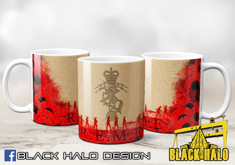 (NEW) REME: Royal Electrical & Mechanical Engineers Poppy Ceramic Mug