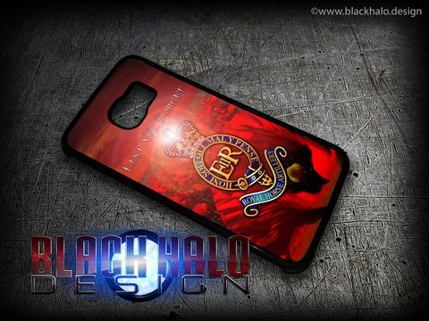 THE REGIMENTS OF THE ROYAL HORSE ARTILLERY: POPPY CASE/COVER FOR SAMSUNG GALAXY S PHONE RANGE (RHA) - Black Halo Design