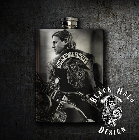 Jax Teller: Sons of Anarchy Hip Flask Stainless Steel 8oz Hip Flask