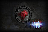 GAME OF THRONES: RED THRONE: YOU WIN OR YOU DIE SUBLIMATION COASTERS - Black Halo Design  - 1