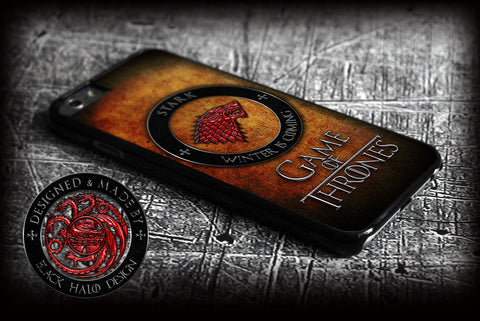 GAME OF THRONES: HOUSE STARK: WOLF COVER FOR  APPLE IPHONE 6 - Black Halo Design