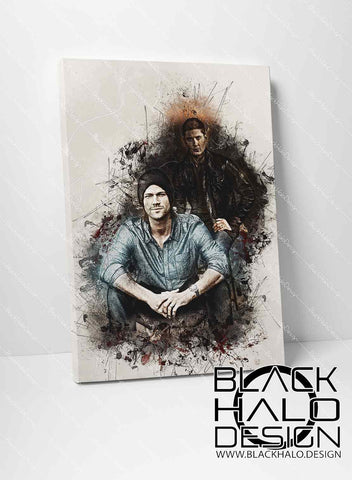 Supernatural: Sam & Dean Timber Framed Canvas in choice of sizes