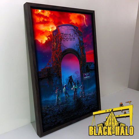 Stranger Things: Upside Down Art Print Canvas with floating shadow frame