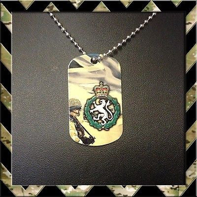 ★ WOMENS ROYAL ARMY CORPS (WRAC)★ DOG TAG NECKLACE/KEYRING - Black Halo Design