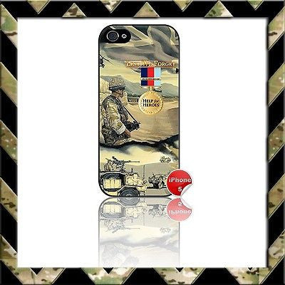 ★ IN SUPPORT OF HELP FOR HEROES ★ PHONE COVER FOR IPHONE 4/4S/5/5s/5C/6/6 PLUS - Black Halo Design