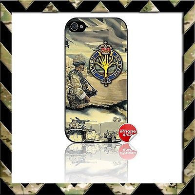 THE WELSH GUARDS SHELL/CASE/COVER FOR APPLE IPHONE 4/4S AFGHANISTAN - Black Halo Design