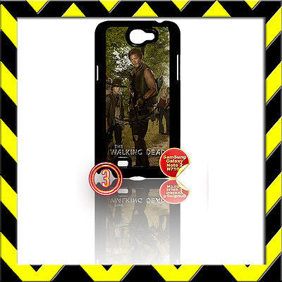 ★ THE WALKING DEAD ★ COVER FOR SAMSUNG GALAXY NOTE II/2/N7100 CASE DARYL#3 - Black Halo Design