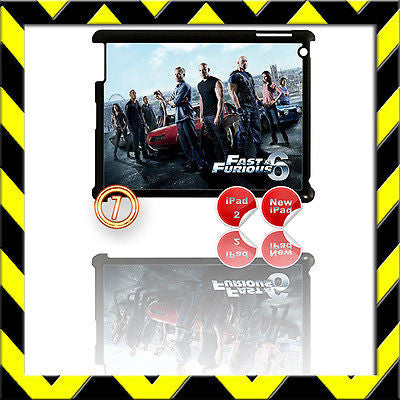★ FAST & FURIOUS 6 ★ SHELL/COVER FOR IPAD 2/3/4(3RD/4TH GEN AND) THE CREW #7 - Black Halo Design