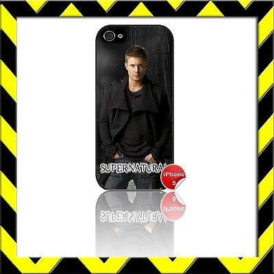 ★ SUPERNATURAL ★ COVER/CASE FOR APPLE IPHONE 5/5S JENSEN ACKLES#13 - Black Halo Design