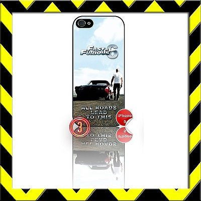 ★ FAST AND (&) FURIOUS 6 ★ PHONE COVER FOR IPHONE 5 (CASE) VIN DIESEL#3 - Black Halo Design