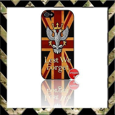 THE MERCIAN REGIMENT(MERCS) SHELL/CASE/COVER FOR IPHONE 5/5S MERCIANS UNION JACK - Black Halo Design