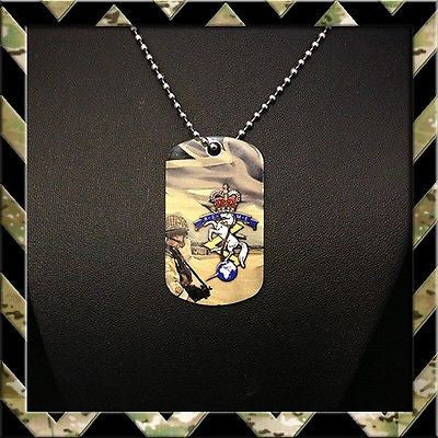★ROYAL ELECTRICAL & MECHANICAL ENGINEERS REME★ DOG TAG NECKLACE/KEYRING R.E.M.E - Black Halo Design