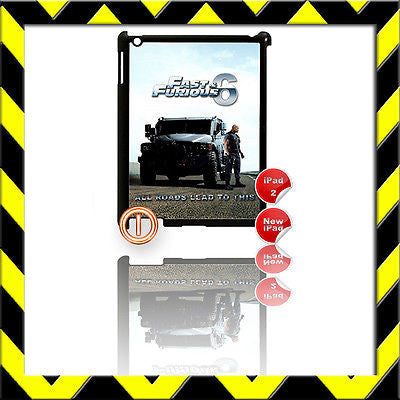 ★ FAST & FURIOUS 6 ★ SHELL/COVER FOR IPAD 2/3/4(3RD/4TH GENERATION) THE ROCK#1 - Black Halo Design