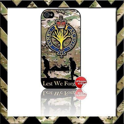 THE WELSH GUARDS SHELL/CASE/COVER FOR APPLE IPHONE 4/4S CAMO - Black Halo Design