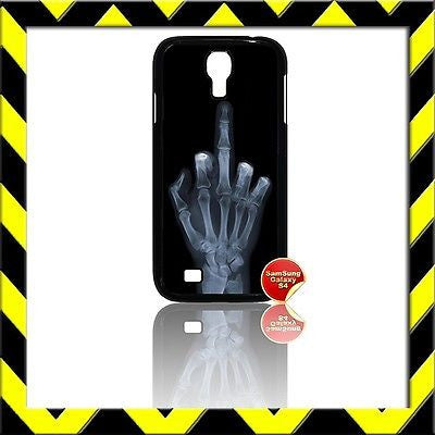 ★ THE MIDDLE FINGER X-RAY(XRAY)★ COVER FOR SAMSUNG GALAXY S4 IV/I9500 PHONE/FONE - Black Halo Design