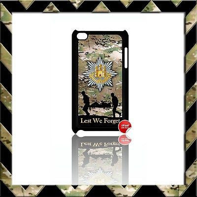 ROYAL ANGLIAN REGIMENT CASE/COVER FOR IPOD TOUCH 4/4TH GEN GENERATION 4G ARMY#18 - Black Halo Design