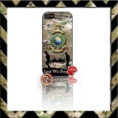 ★ ROYAL MARINES GLOBE & LAUREL ★ SHELL/CASE/COVER FOR IPHONE 5/5S MARINE CAMO#2 - Black Halo Design