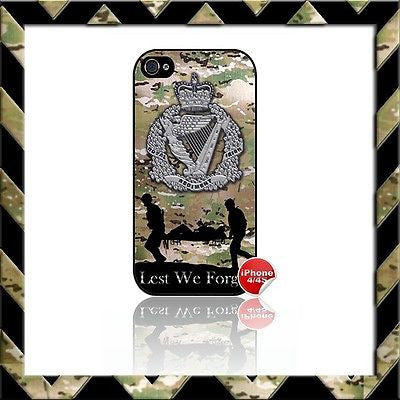 ★ THE ROYAL IRISH REGIMENT RIR SHELL/CASE/COVER FOR APPLE IPHONE 4/4S CAMO#4 - Black Halo Design