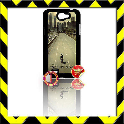 ★ THE WALKING DEAD ★ COVER FOR SAMSUNG GALAXY NOTE II/2/N7100 CASE HIGHWAY#1 - Black Halo Design
